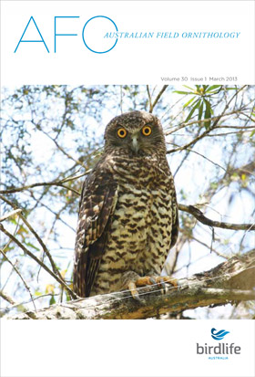 Australian Field Ornithology March 2013