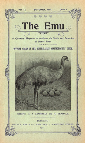 The Emu volume 1 circa 1901